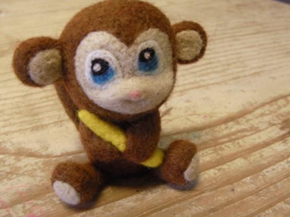 Felt Monkey Toy