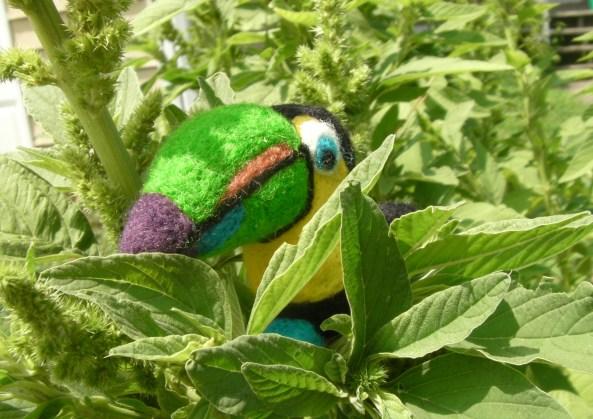A Felt Tropical Bird