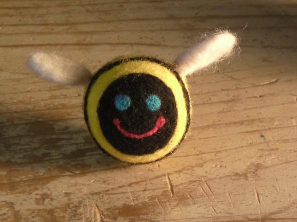 Needle Felted Bumblebee