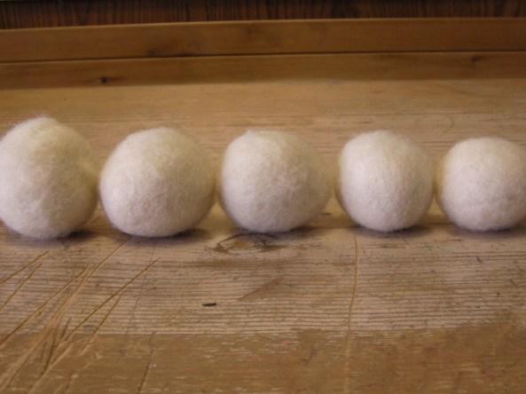 Wet Felted Wool Balls