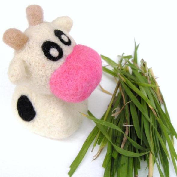 felt toy cow
