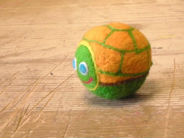 A Cute Felt Turtle