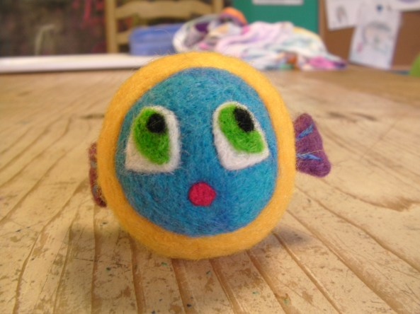 Felt Toy Fish Face