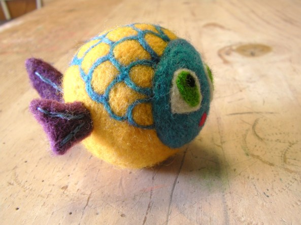 Profile of Felt Fish Toy