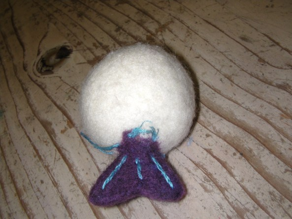 Felted Fish Tail with embroidery details
