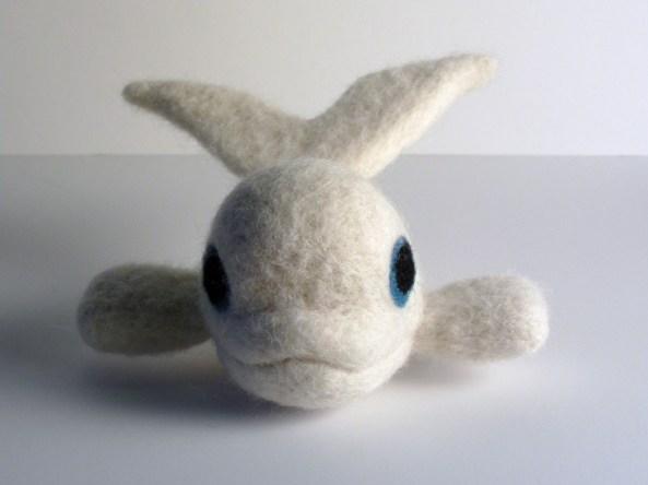 Felt Beluga Whale Toy