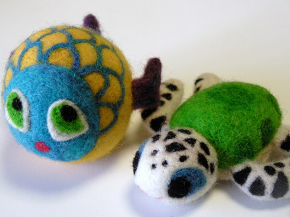 Sea Turtle and Fantasy Fish Felt Toys