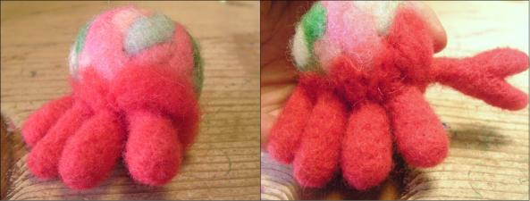 Needle Felting Crab Legs