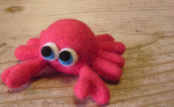 Needle Felted Crab