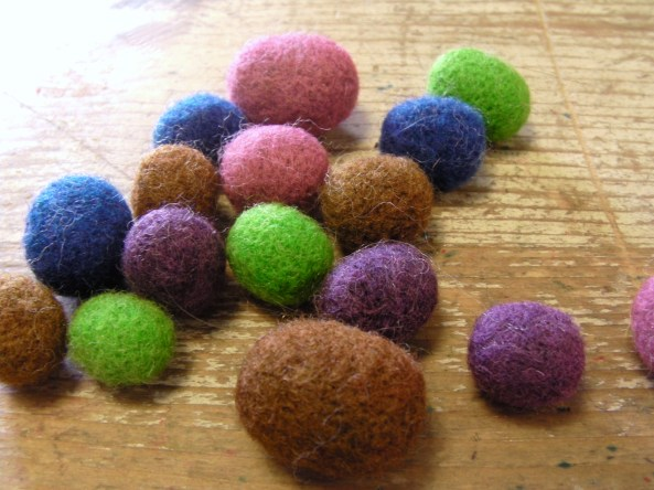 small needle felt balls