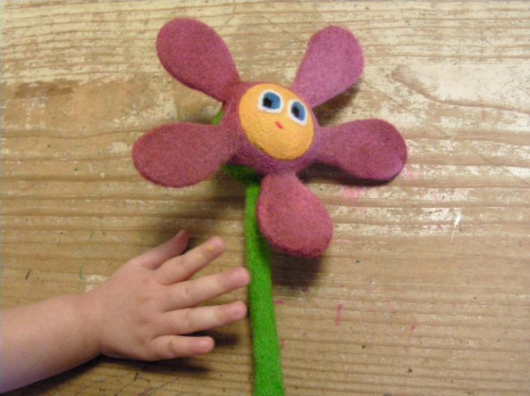 Felted Flower Rattle