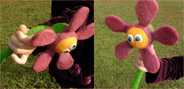 Felt Flower Rattle