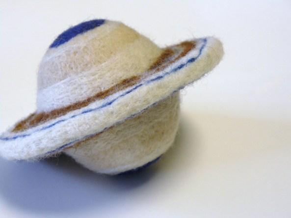 A Toy Felt Saturn