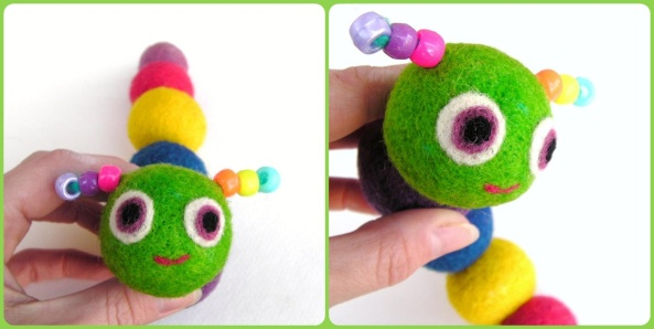 Caterpillar. . .Soft Fuzzy Felt Balls on a String!