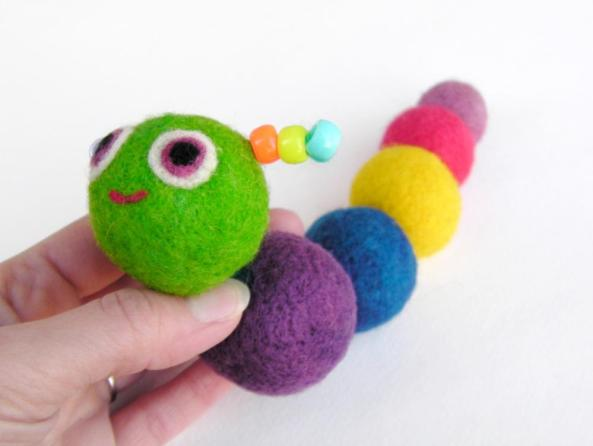 soft felt caterpillar toy