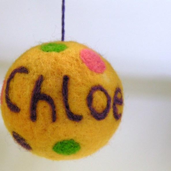 felted christmas ball