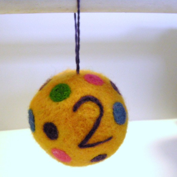 felted christmas ornament