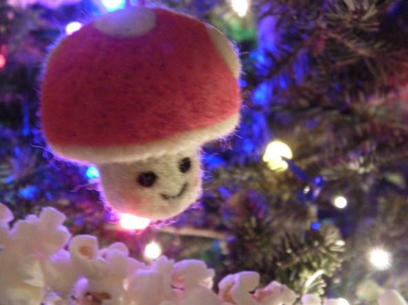 Felted Mushroom Ornament