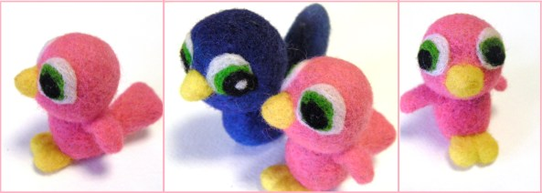 felted baby bird