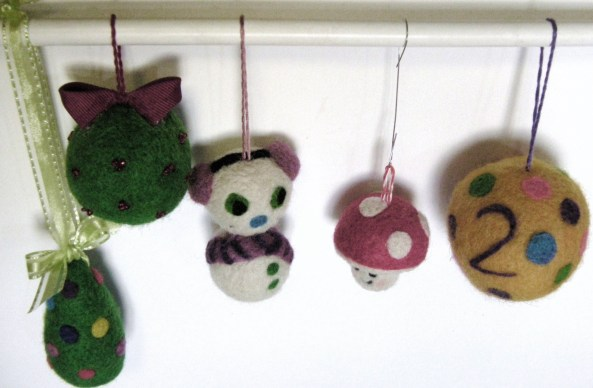 Felted Christmas ornaments