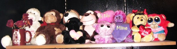 My collection of Valentine's Day Plushies