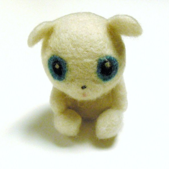 repair a needle felt toy by washing it
