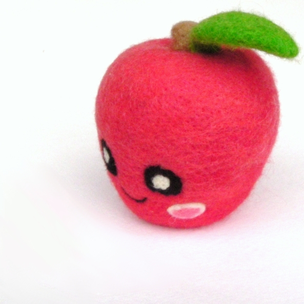 needle felted apple