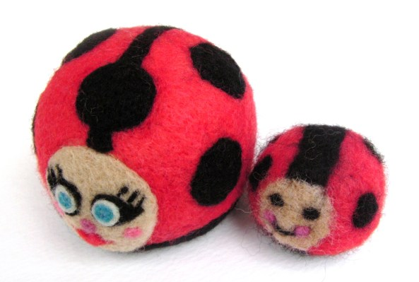 felt ladybugs