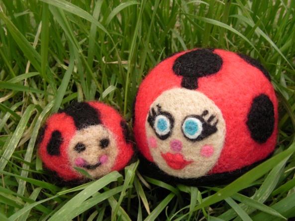 Felted Ladybugs