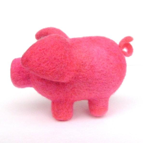 felt pig toy