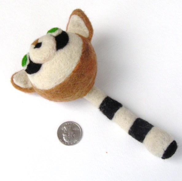 Needle felted Raccoon toy
