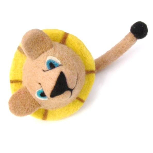 needle felt zoo animal, a lion