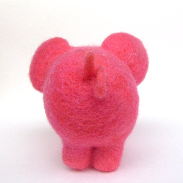 needle felted pig toy