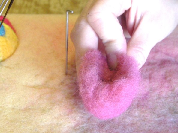 heart tutorial for needle felting