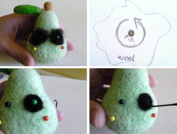 needle felting basic eyes