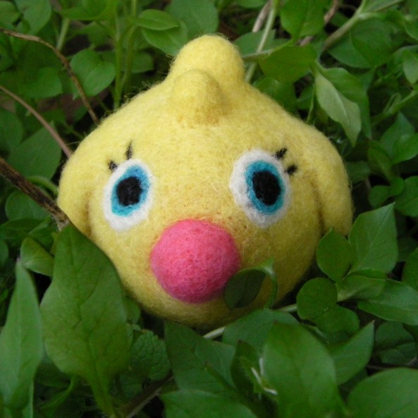 handmade Easter chick toy