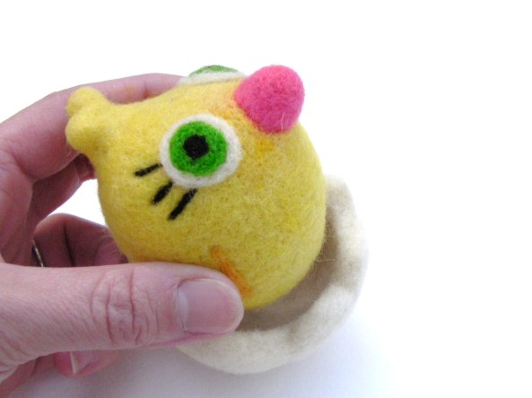 felt baby chick in egg, Easter toy
