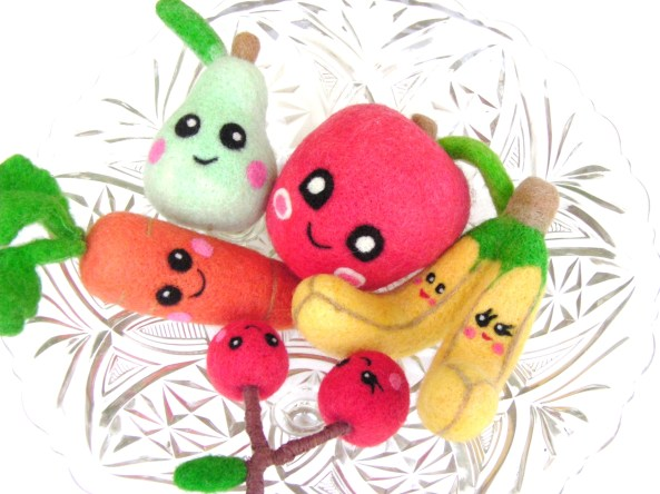handmade felt play food