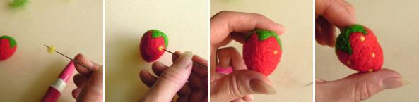 tutorial on felting strawberries