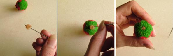 tutorial on felting play food strawberries