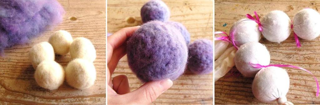 tutorial on felted balls with letters