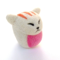 needle felted toy cat