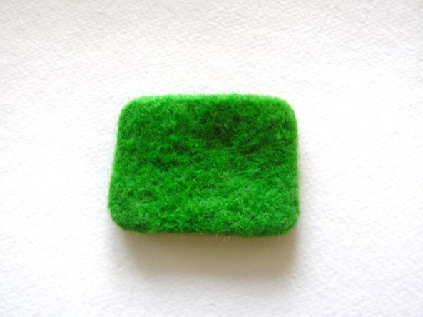 how to cut flat needle felted pieces