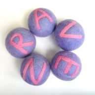 personalized felt balls
