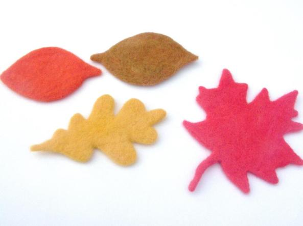 felt colorful fall leaves