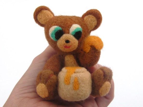 needle felt bear