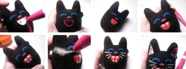 how to felt a black cat