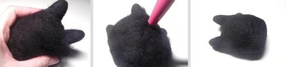 how to needle felt a Cat
