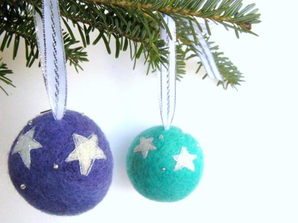 Needle Felt Tree Ornaments