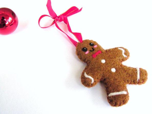 Tutorial on Needle Felted Gingerbread Man